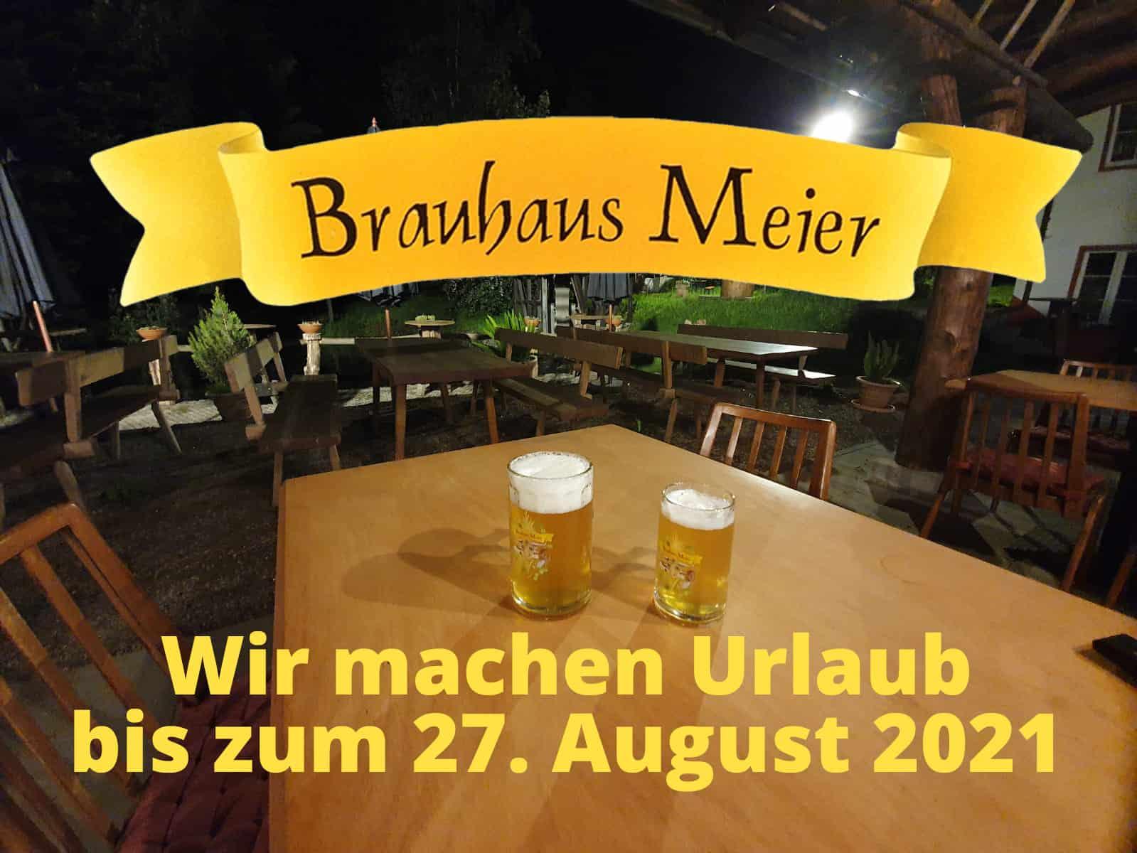 Urlaub bis 27. August 2021